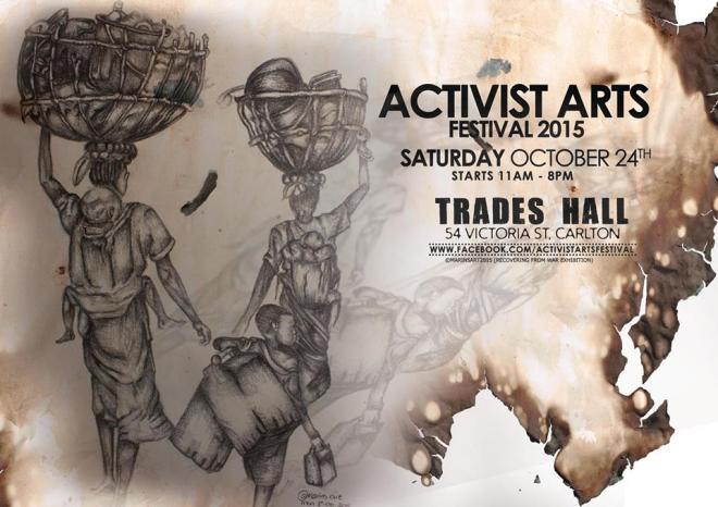 Activist Arts Festival 2015 poster