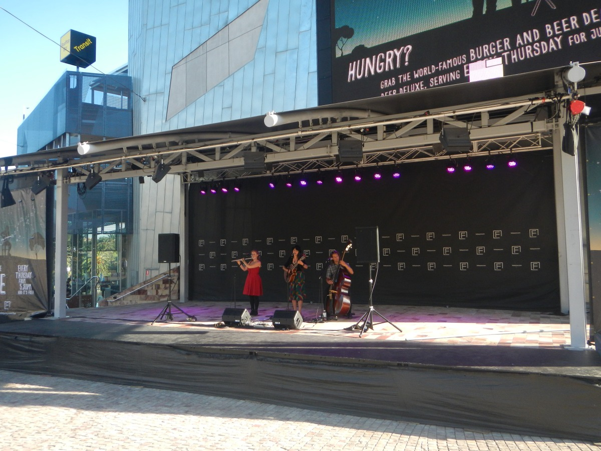 Beth and the Brave at Federation Square, 2014