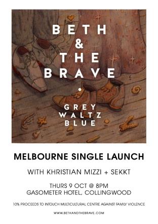 Grey Waltz Blue Launch Poster